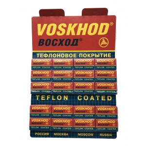 100 pcs Voskhod Teflon Coated double edges blades
